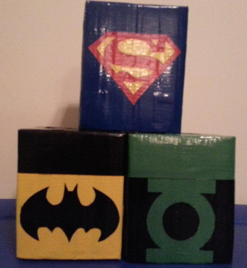 DC Tissue boxes by DuctileCreations