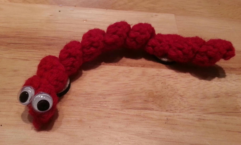 Crochet Magnet Worms by DuctileCreations