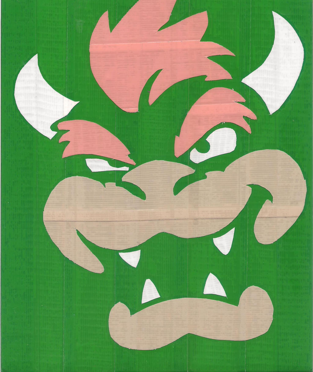 Bowser Duct Tape Print by DuctileCreations