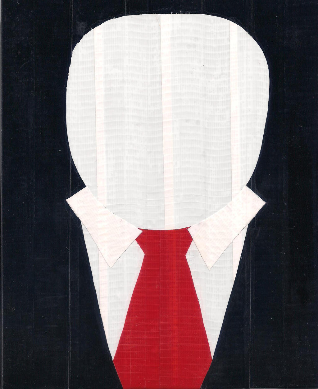 Duct Tape Slenderman Print by DuctileCreations