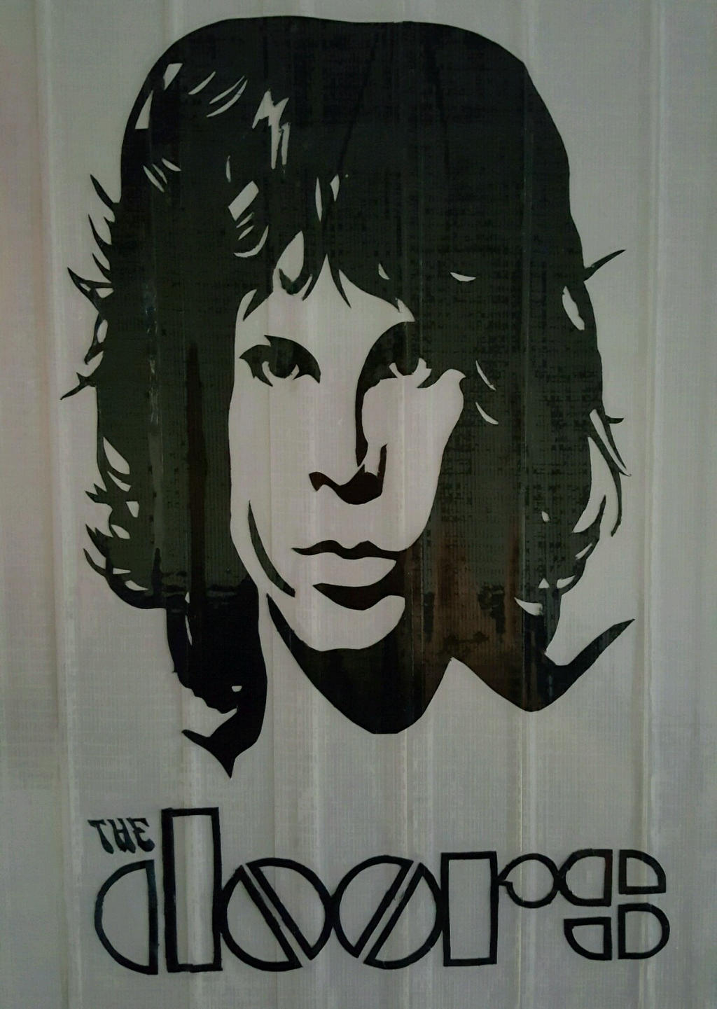 Jim Morrison - The Doors Duct Tape Print by DuctileCreations