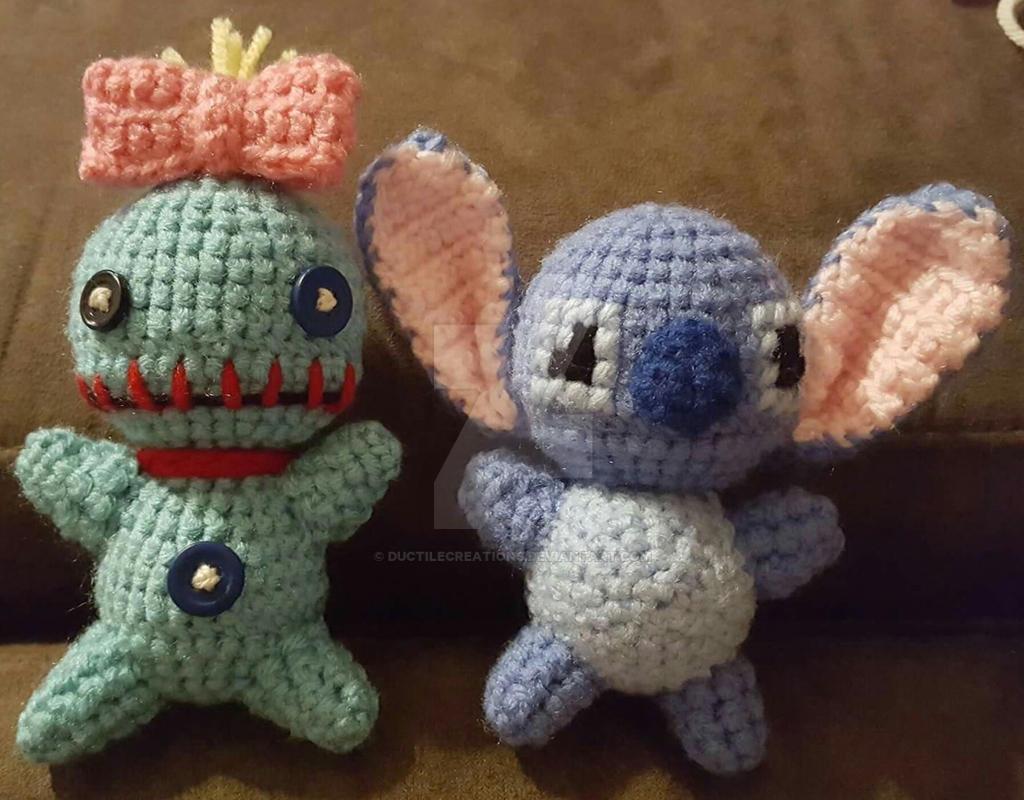Scrump and Stitch Amigurumis by DuctileCreations