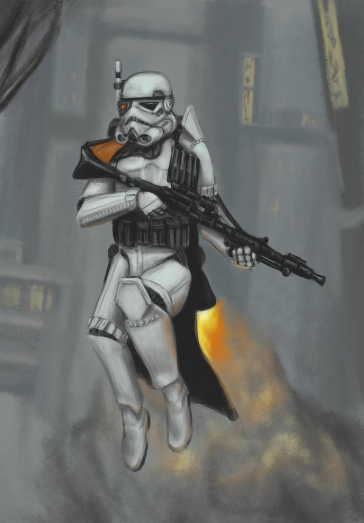 Stormtrooper: Sideshow Collectibles - Utapau Shadow Trooper