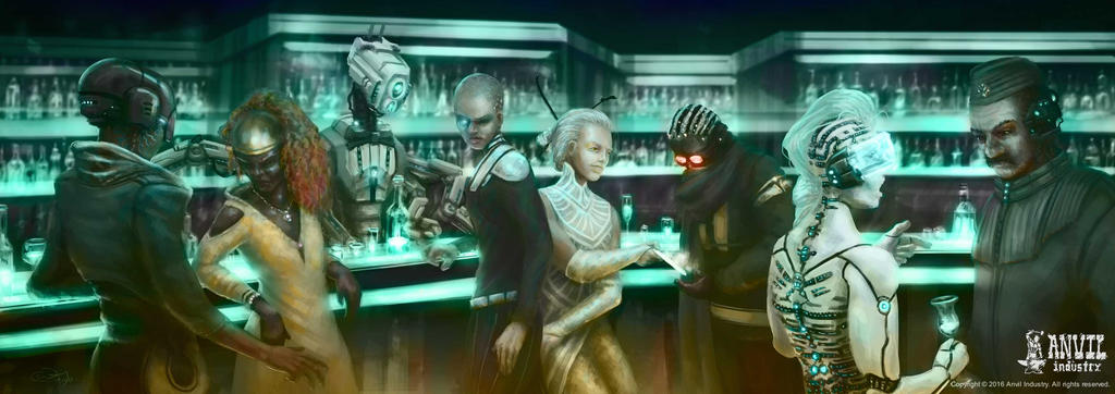 Anvil Industry's AFTERLIFE Bar Scene by Albek42