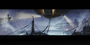 Sci-Fi Airship Dock