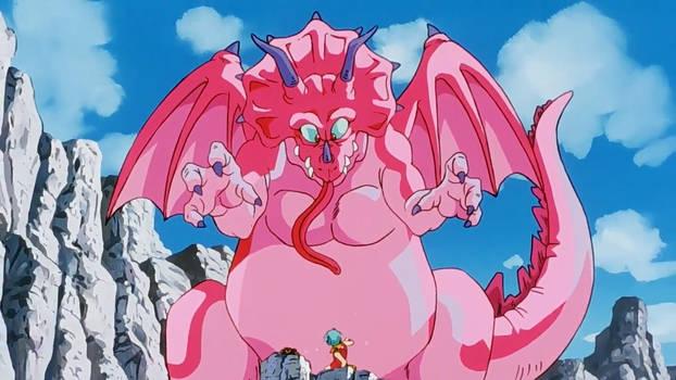 Dragon Ball Z - Bulma and Videl vs Dinosaur 01