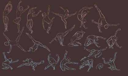 Pose Sketches by Sh3ikha