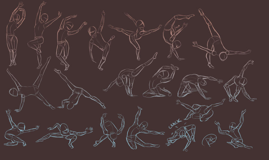 Pose Sketches by Sh3ikha