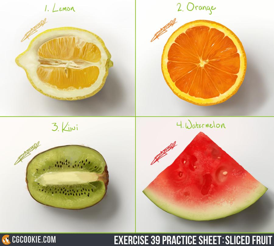 Exercise 39 - Citrus Kiwi Melon by Sh3ikha