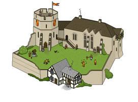 Pixel Castle by souluk