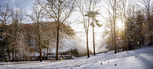 Letchworth State Park, NY in Snow by WildgoosePhotography