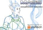 Asari Sketch by masscomics