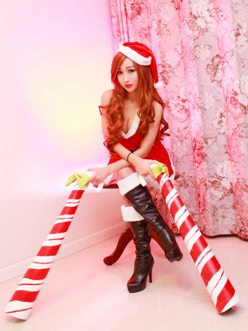 Candy Cane Miss Fortune 4 by RinnieRiot