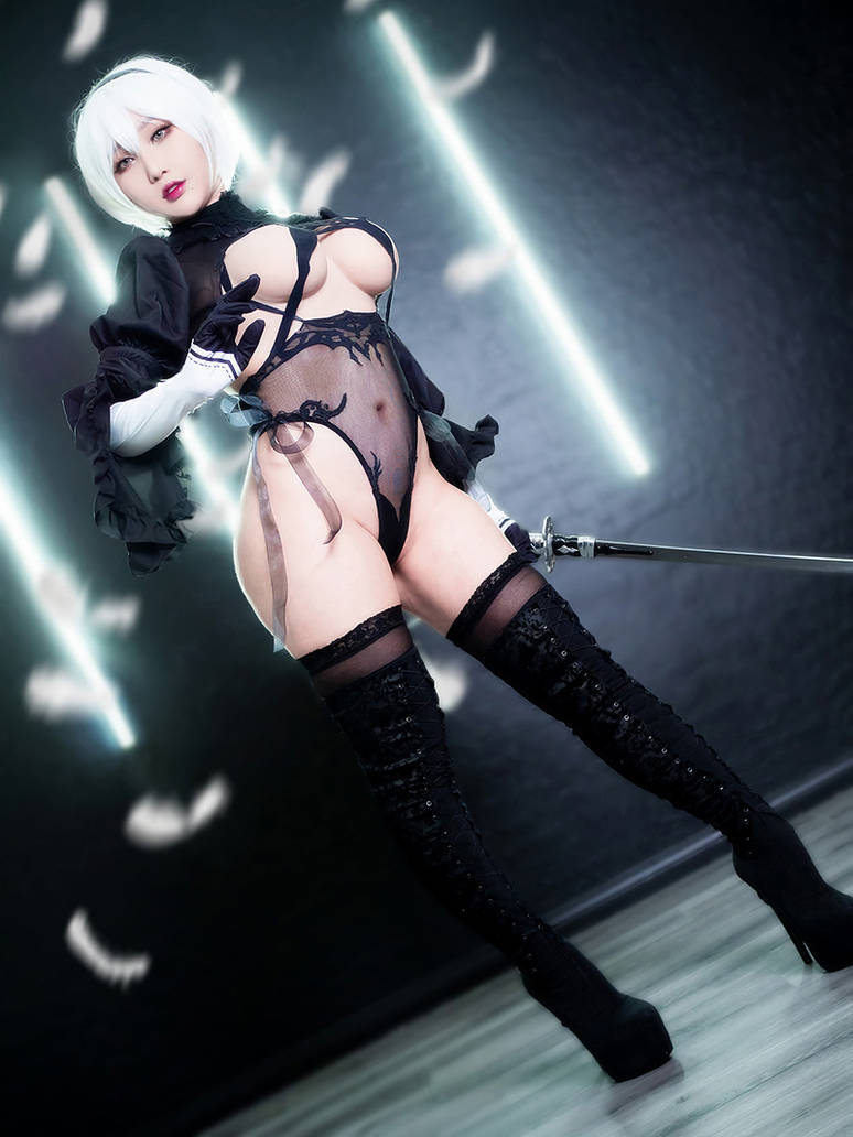 2B from Nier: Automata Cosplay sakimichan ver. by RinnieRiot
