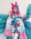 Spirit Blossom Ahri cosplay by Rinnie Riot