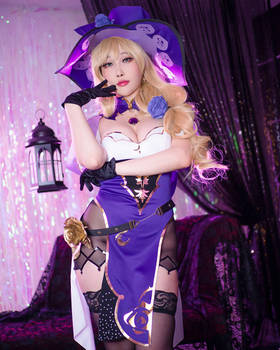 Lisa from Genshin Impact Cosplay by Rinnie Riot