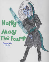 Jedi Wraith Todd-Happy May The Fourth by Beyworld101