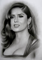 Salma Hayek portrait by ale-art
