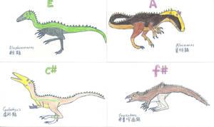 Dinosaur Piano Scales part V