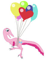 My Little Maniraptor: Pinkie Pie by Albertonykus