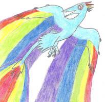 My Little Maniraptor: Rainbow Dash by Albertonykus