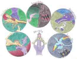 My Little Maniraptor: The Elements of Harmony by Albertonykus