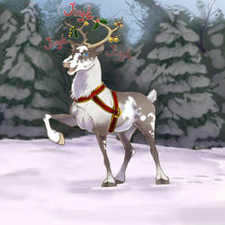 Reindeer - I'm ready to fly, Santa!