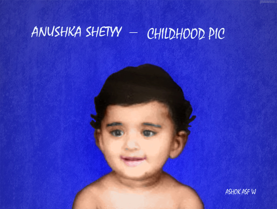Anushka shetty childhood pic by 8951201980 on DeviantArt