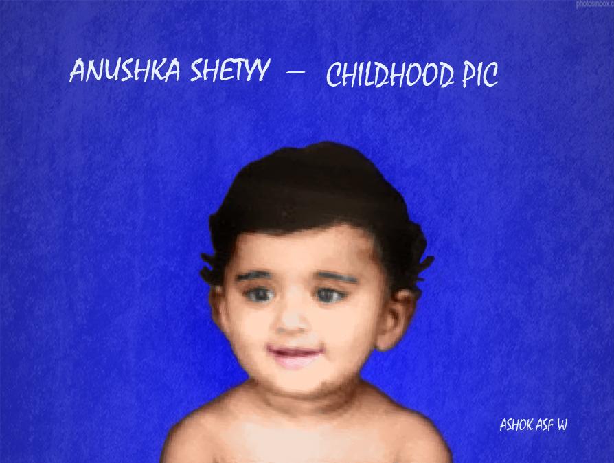 Anushka shetty childhood pic by 8951201980 on DeviantArt