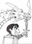 Dragon with Sir Ralph