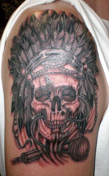 indian skull tattoo coverup by timetotakeback on deviantart. Black Bedroom Furniture Sets. Home Design Ideas