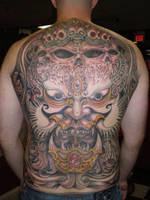 Oni Hanya mask Backpiece by TimeToTakeBack