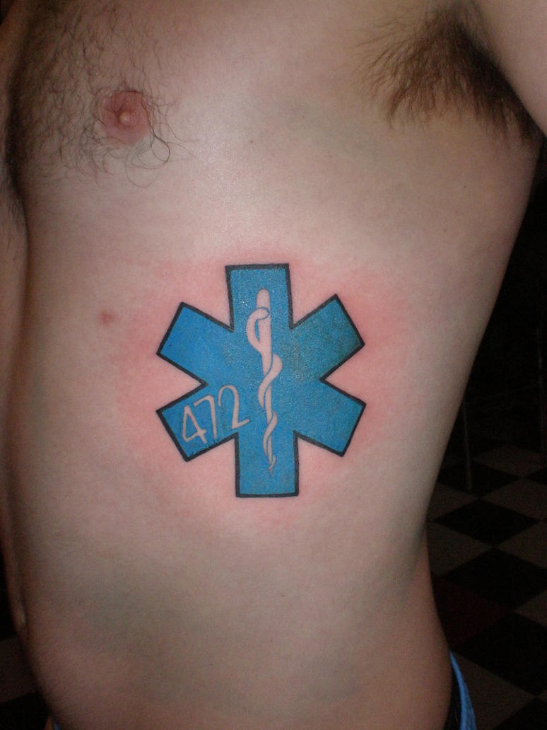 Star of life by timetotakeback on deviantart for Star of life tattoo