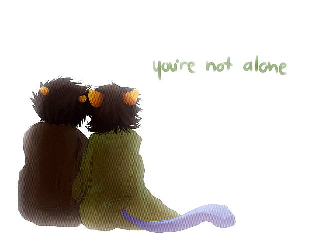 you're not alone by Lingering-sentiment
