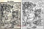 Slender Man Der Ritter woodcut