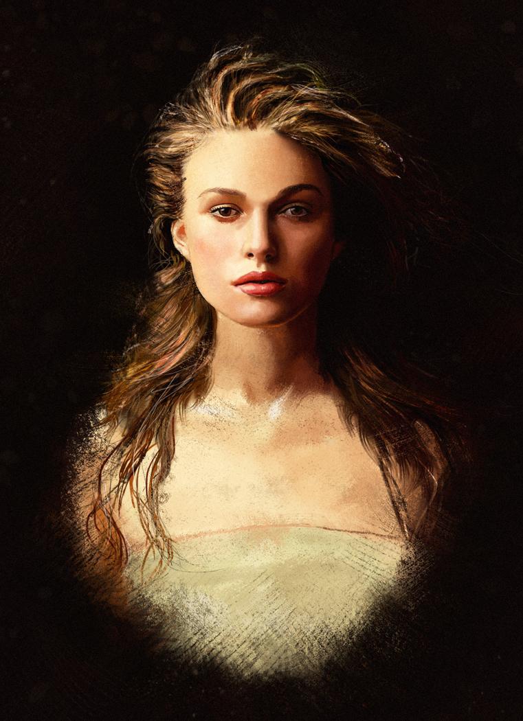 Keira Knightley portrait by tuonenjoutsen