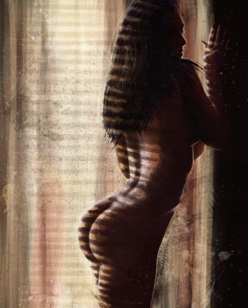 Nude by the window by tuonenjoutsen