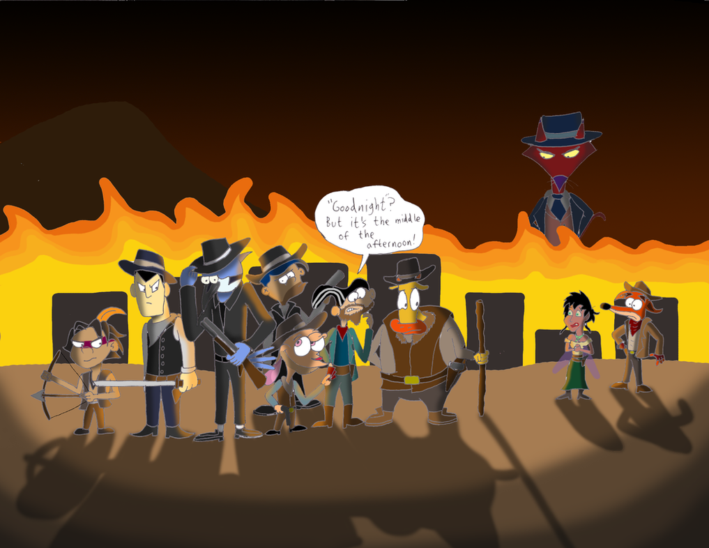 The Magnificent Seven: Cartoon Edition by greenth1ng