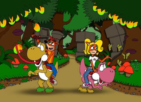 Crash and Coco's Quaint Autumn Stroll
