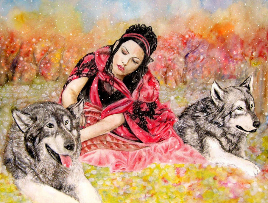 Amy Lee-Wolf's Rain III by ZhaoT