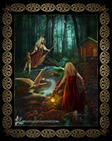 Baba Yaga and the Magic Swan Geese by LeenaHill