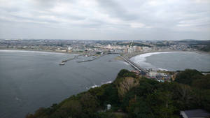 Enoshima skyline view from the lighthouse
