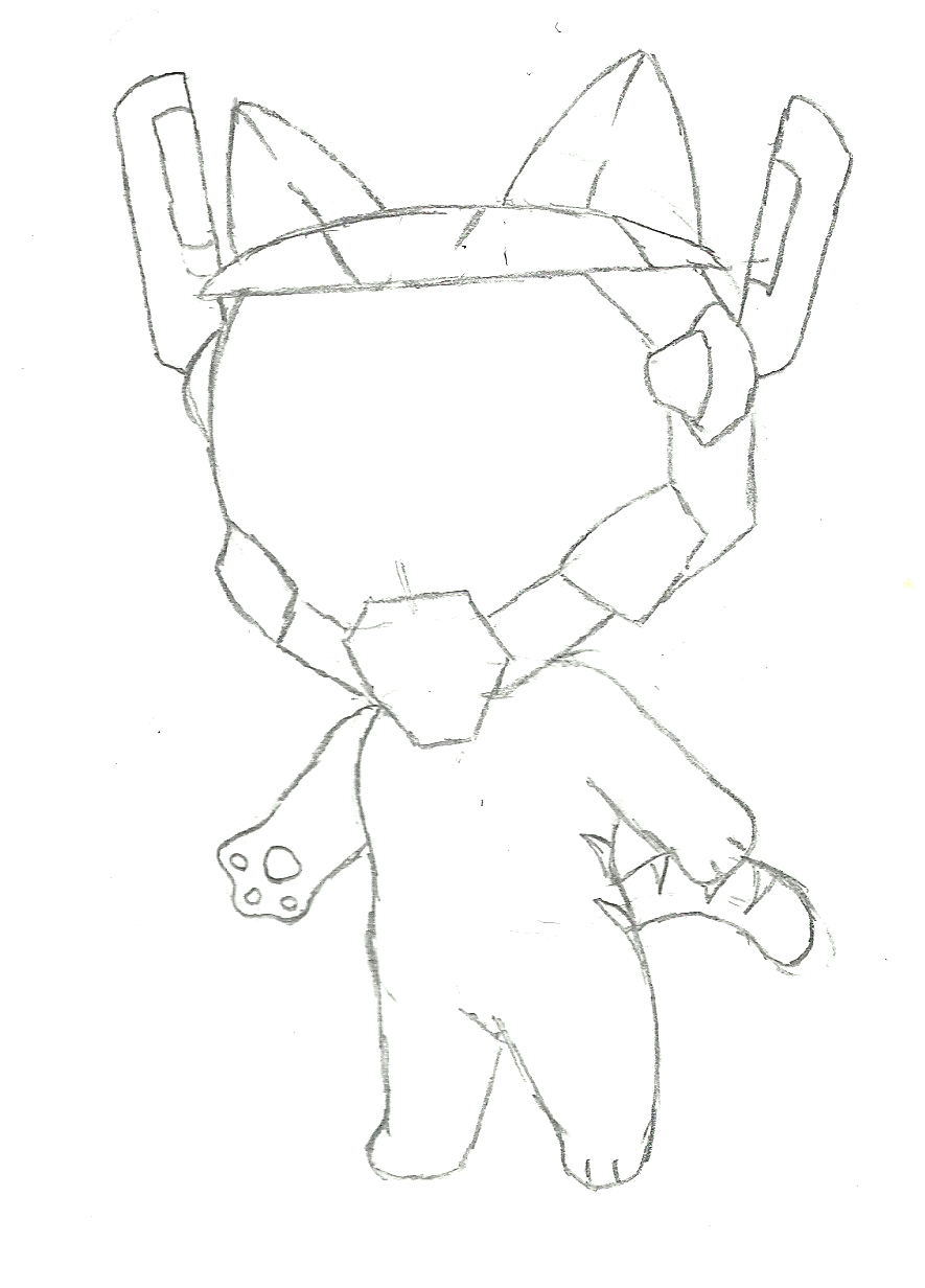 [SKETCH] Robo-Nya by IceeDaHedgehog