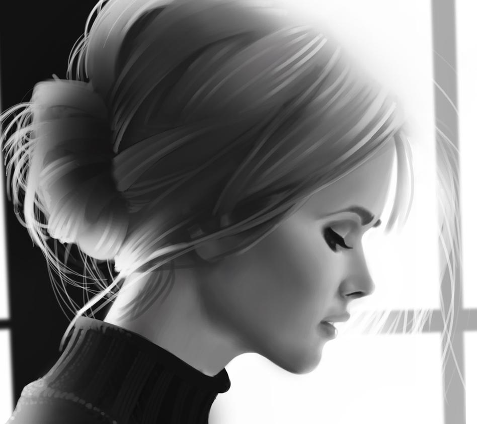Woman Profile Study by andrecastelo on DeviantArt Woman Side Profile Drawing