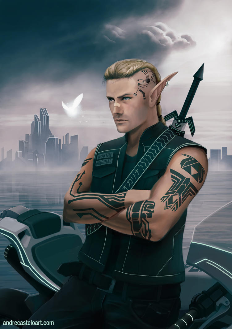 Cyberpunk: Link by andrecastelo