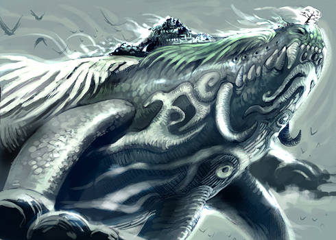 retouched whale