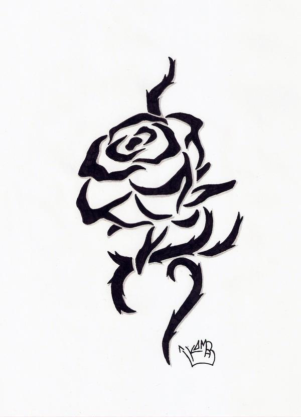 tribal rose by koomaar91 on deviantart