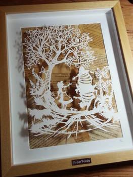 Tweedledum and Tweedledee - Original Papercut by PaperPandaCuts