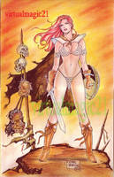RED SONJA art by RODEL MARTIN by rodelsm21