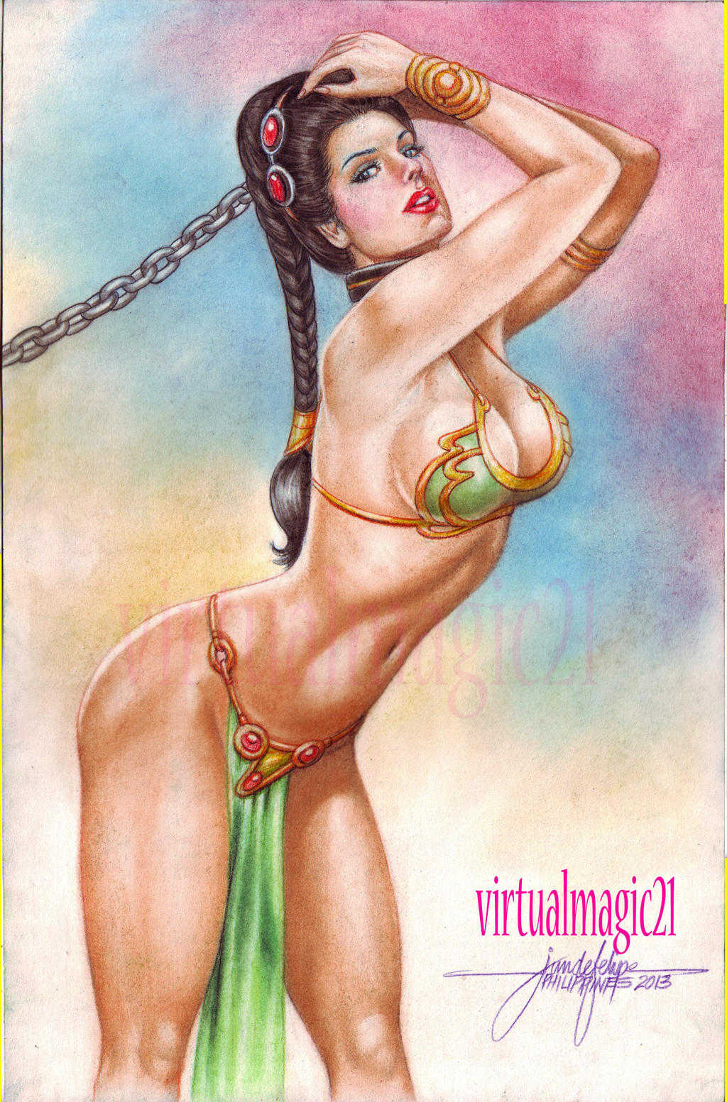 SLAVE PRINCESS LEIA by JUN DE FELIPE by rodelsm21